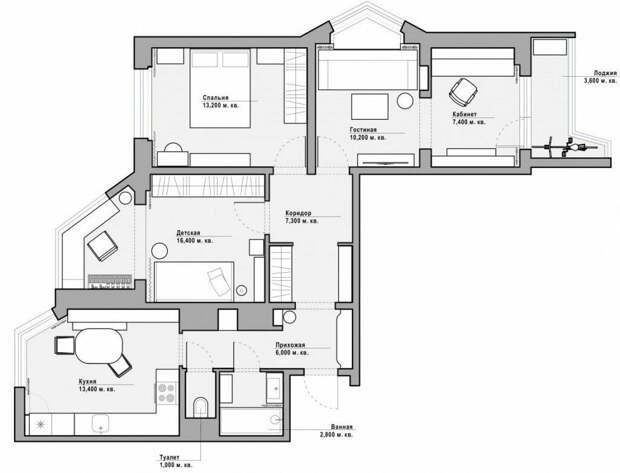 Стиль, гармония и традиции. Трехкомнатная квартира в панельном доме серии П-44Т