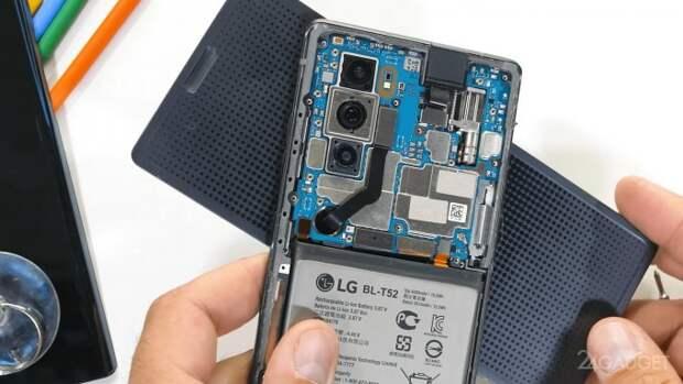 Эксперт разобрал смартфон LG Wing и показал работу его вращающегося механизма