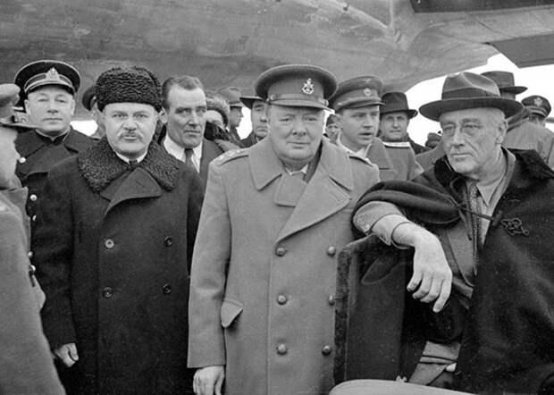 Молотов, Черчилль, Рузвельт Фото: livejournal.com