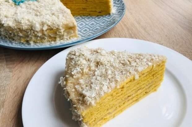 Фото к рецепту: Тыквенный пп торт на сковородке