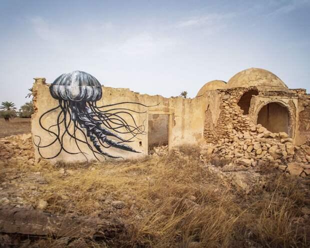 150 уличных художников из 30 стран, превратили старую деревушку Эр-Рияд в Тунисе в настоящую галерею под открытым небом (5)