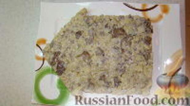 """Фото приготовления рецепта: Салат """"Часы"""" - шаг №9"""