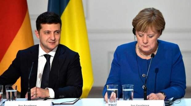 Зеленский добивается разговора с Меркель и Макроном