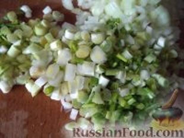 Фото приготовления рецепта: Лепешки с зеленым луком - шаг №4