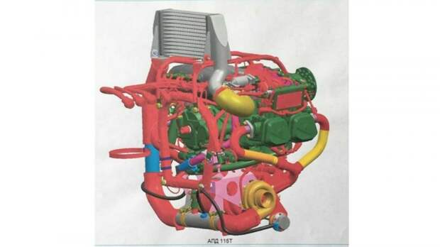Модель двигателя АПД-115Т