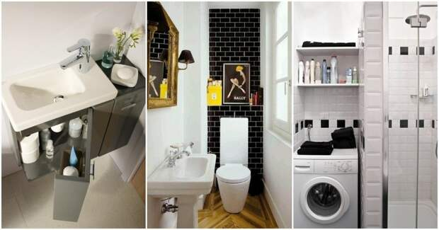 Идеи для небольших ванных комнат: несколько вариантов умных решений