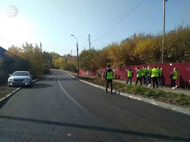В Ижевске завершили ремонт дороги на улице Саранской