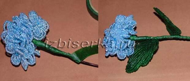 Сборка цветка гортензии
