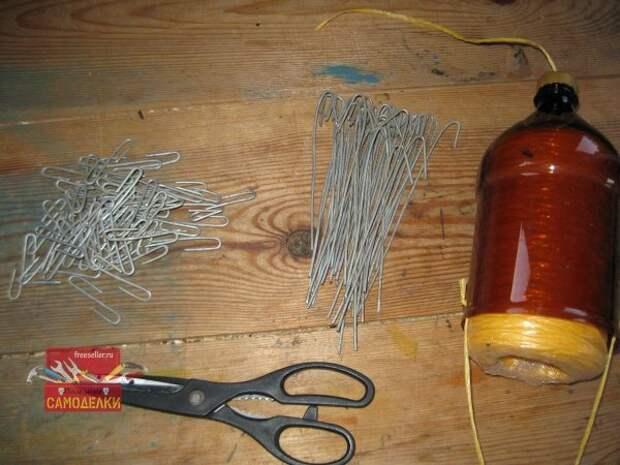 Материалы и инструменты для подвязки огурцов