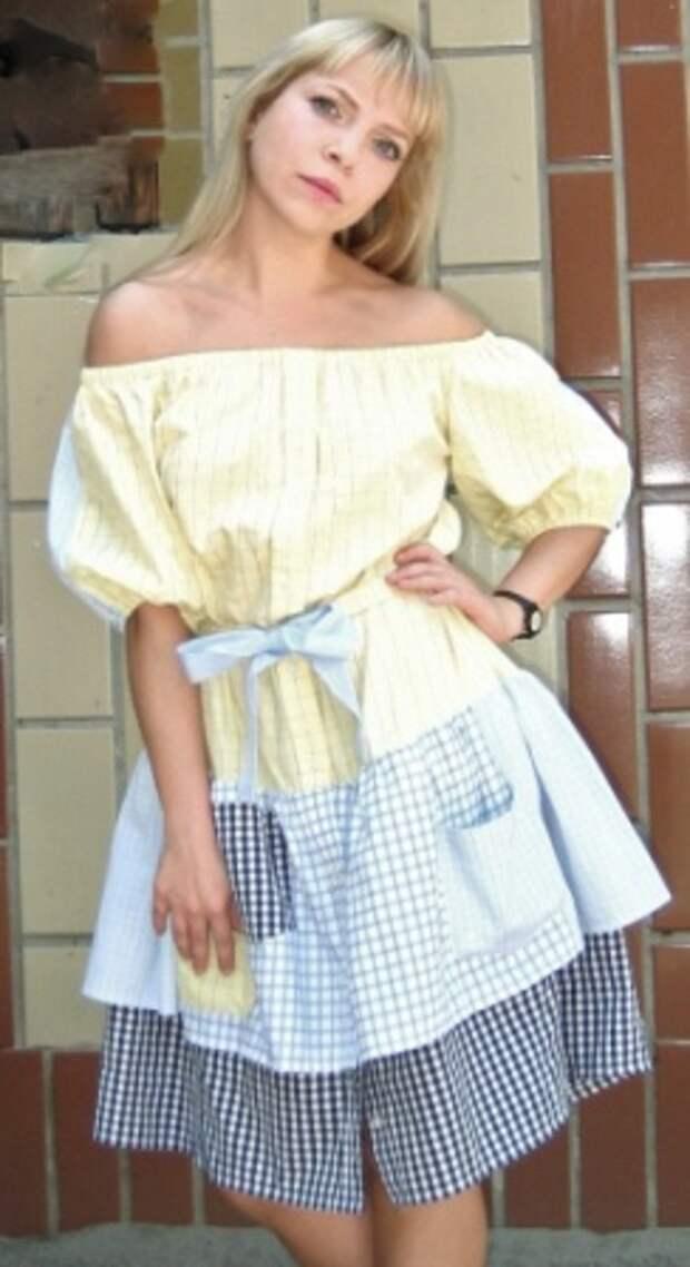 Платье из рубашек # 3