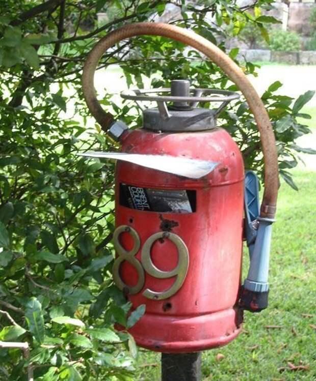 11. Оригинальный почтовый ящик авто, идеи использования, огнетушитель, своими руками, фото