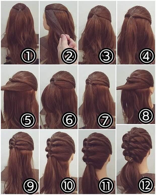 Полчаса для себя. Шесть вариантов причёсок с косами