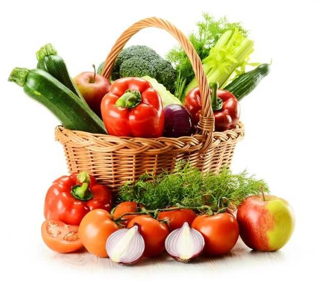 """Fruits and vegetables in baskets Фрукты и овощи в корзинах """" Территория дизайнера и веб-мастера - Клипарты, Шаблоны, Иконки, Кис"""