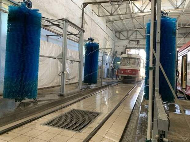 В депо Самарского ТТУ запустили новую автоматизированную мойку