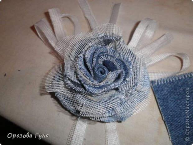 Масиер-класс. Как сделать розу из джинсов