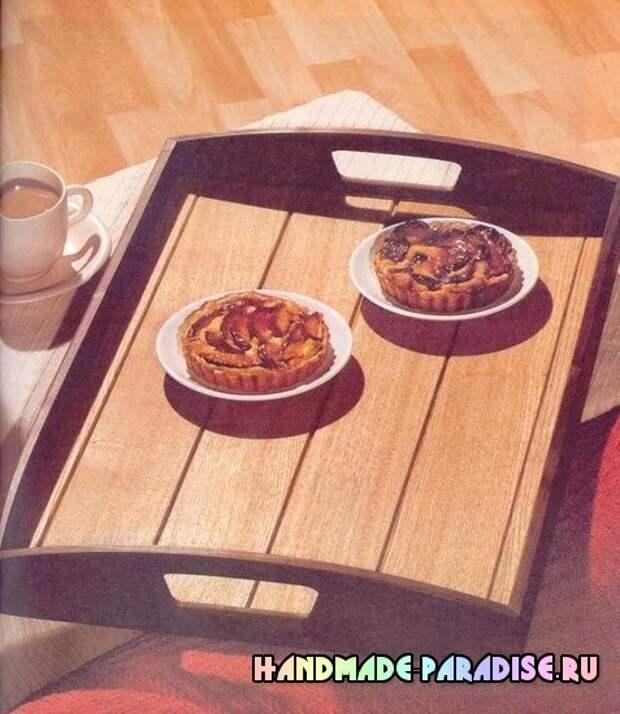 Как сделать деревянный поднос