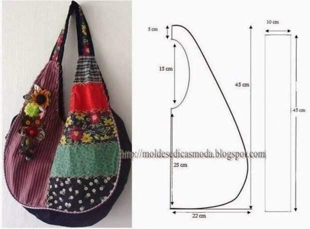 Выкройка летней сумки - баула