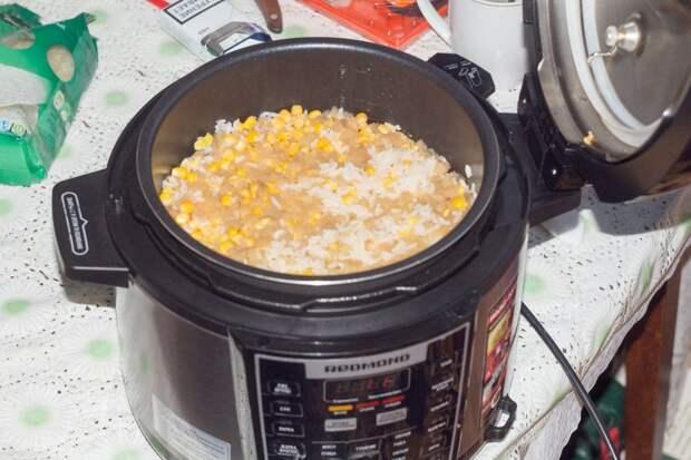 Курица с рисом на троих в мультиварке на ужин
