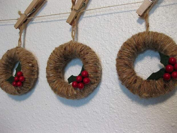 mini wreath ornaments