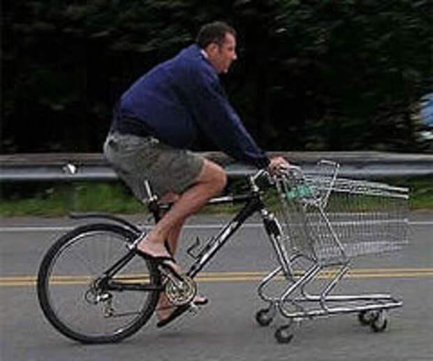 Легкий шопинг: велотележка вместо автомобиля