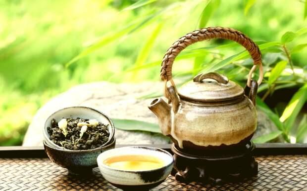 Зеленый чай с жасмином и лимоном бодрость, кофе, напитки