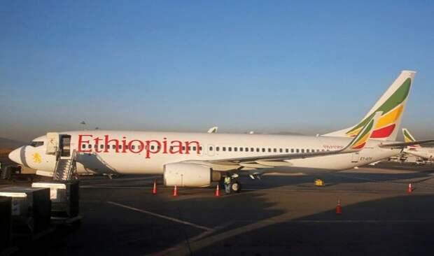 Появилось первое фото с места падения Boeing 737 в Эфиопии