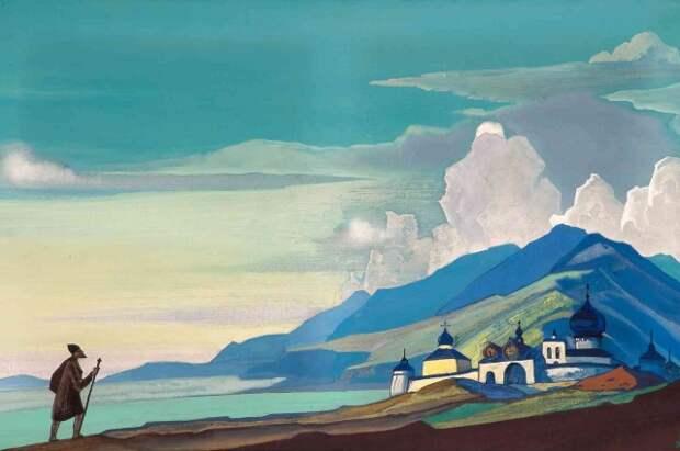 Свои впечатления от путешествий Рерих отображал на картинах.
