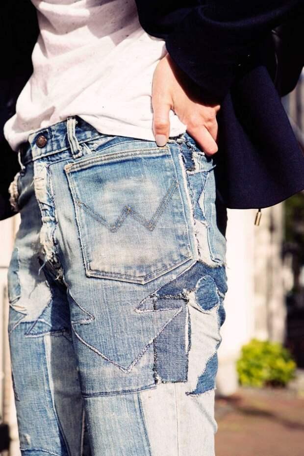 Лоскутные джинсы в стиле крейзи (трафик)