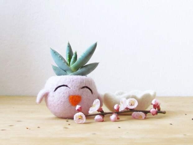 Войлочные цветочные горшки (подборка)
