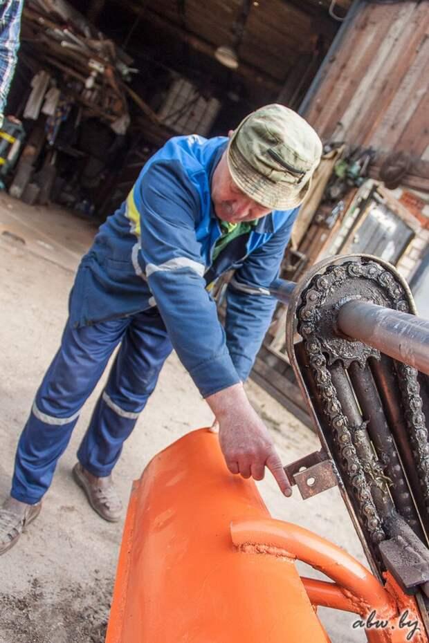 Белорусский пенсионер построил собственный трактор очумелые ручки, самоделка, трактор