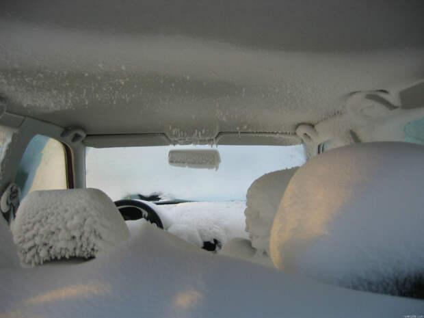 Зима в машине.