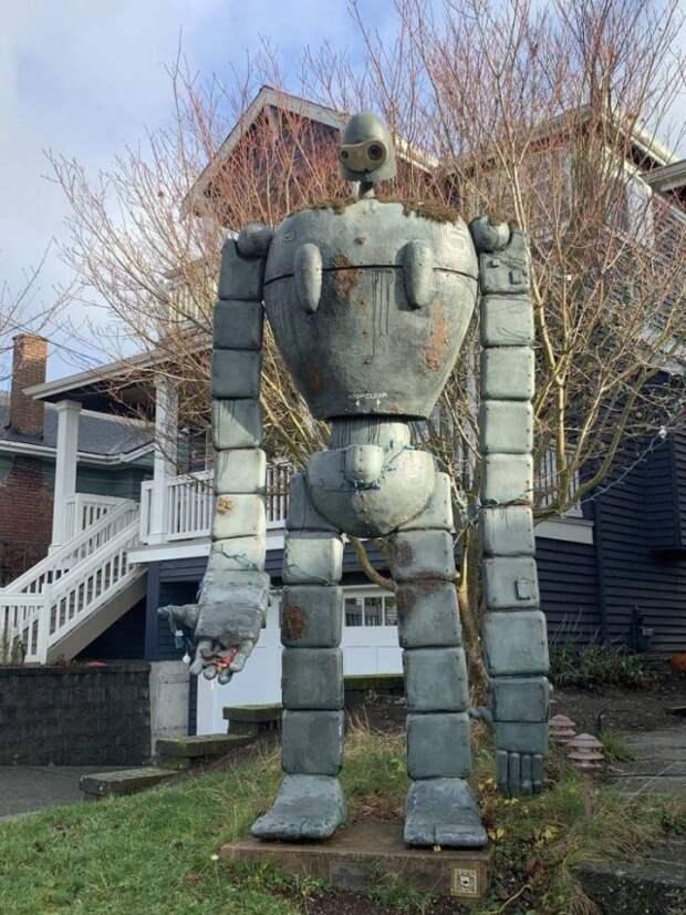 Робот во дворе