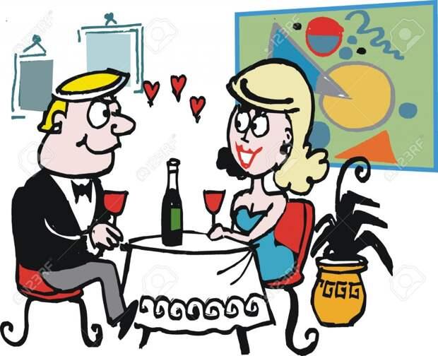— Что должен сделать настоящий джентльмен после романтического ужина? Улыбнемся))
