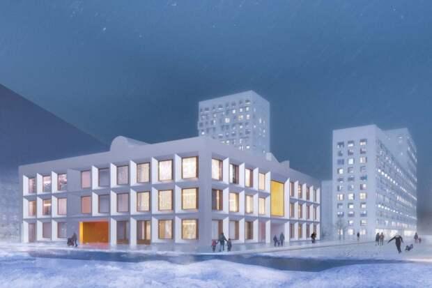 Фасад нового детского сада в Останкине будет похож на бельгийскую вафлю