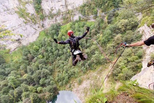 ropejumping35 Прыжок в Сухое озеро