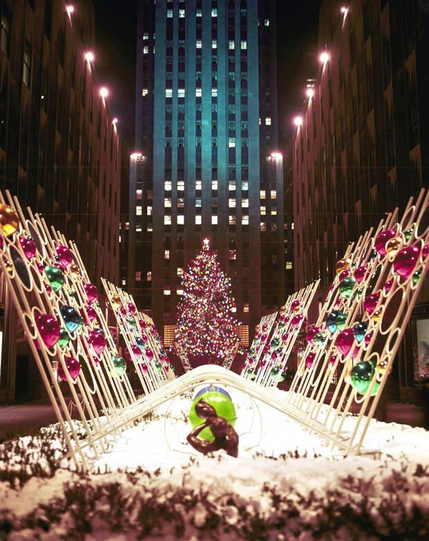 Рождественские деревья в Rockefeller Center сквозь года