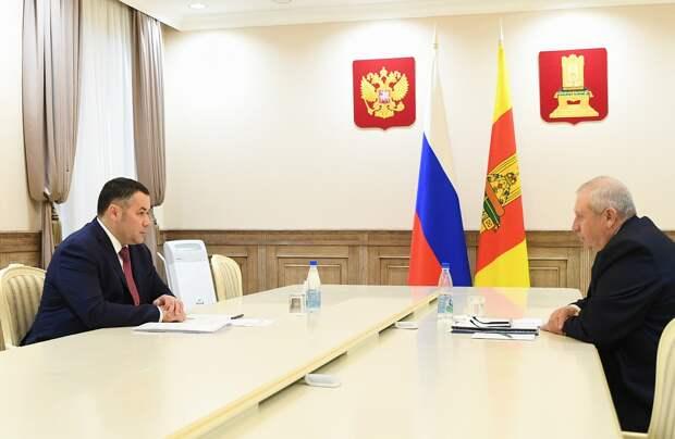 Игорь Руденя провел встречу с главой Андреапольского муниципального округа