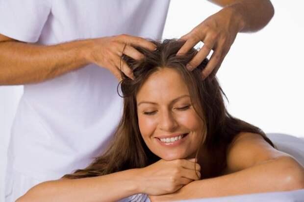 Массаж головы для улучшения роста волос