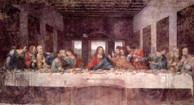 Тайная вечеря - Леонардо да Винчи (1495, Санта-Мария делле Грацие)