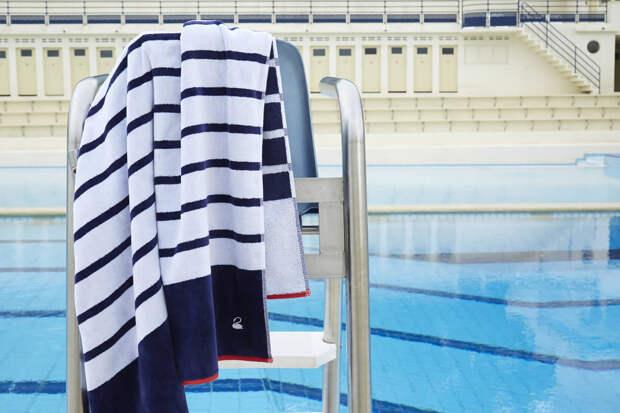 Yves_Delorme пляжное полотенце Marine11