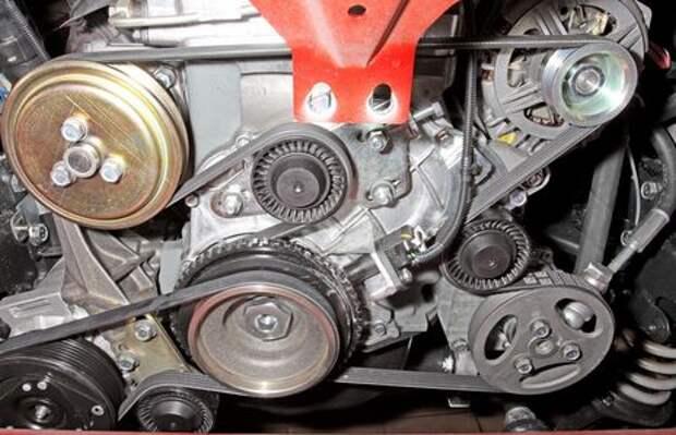 Сhevrolet Niva: проверка и замена ремня привода вспомогательных агрегатов