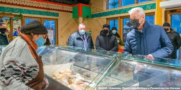 Собянин: За год в Москве будет открыто еще 20 новых круглогодичных ярмарок.Фото: В. Новиков mos.ru