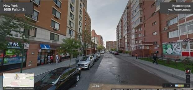 Архитектурное сходство Красноярска с Нью-Йорком