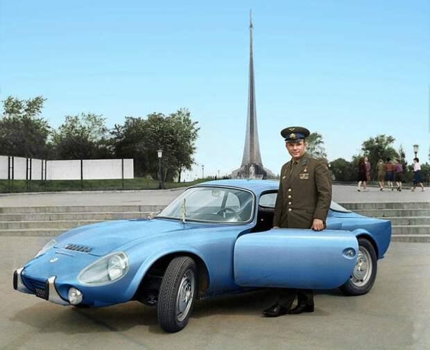 Юрий Гагарин и его Matra Bonnet Jet VS, 1965 год, Москва