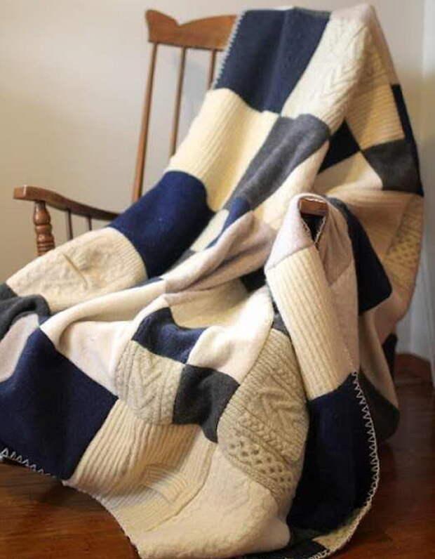 4. Плед свитер, своими руками, совет, хитрости