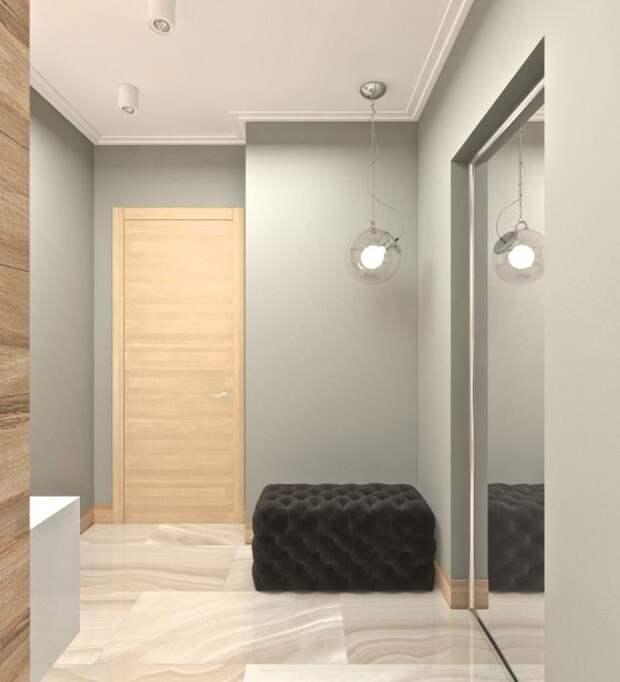 Дизайн-интерьера квартиры-студии, интерьер прихожей