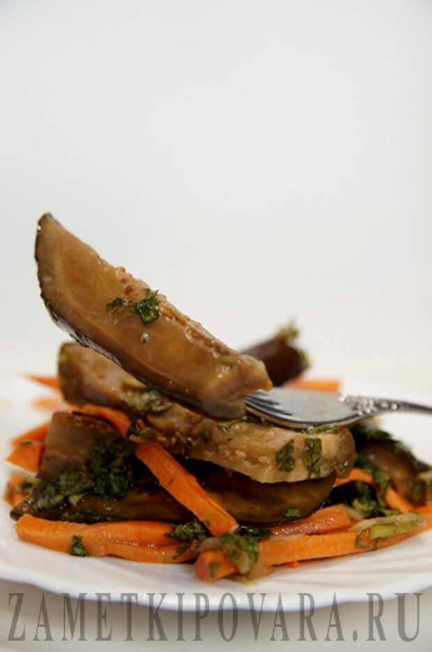 Маринованные баклажаны с кинзой и чесноком
