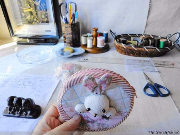 Лоскутное шитье. Кошелек с кроликом (48) (700x524, 277Kb)