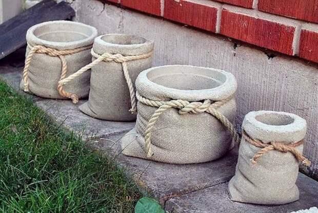 18 отличных идей, как при помощи бетона украсить сад