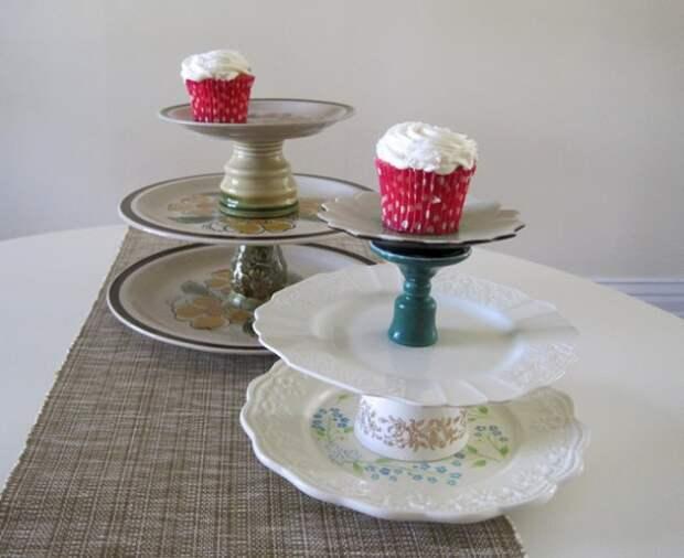 Подставки для торта и пирожных  своими руками